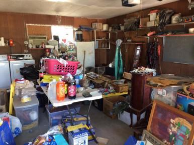 Salvaged stuff in the garage